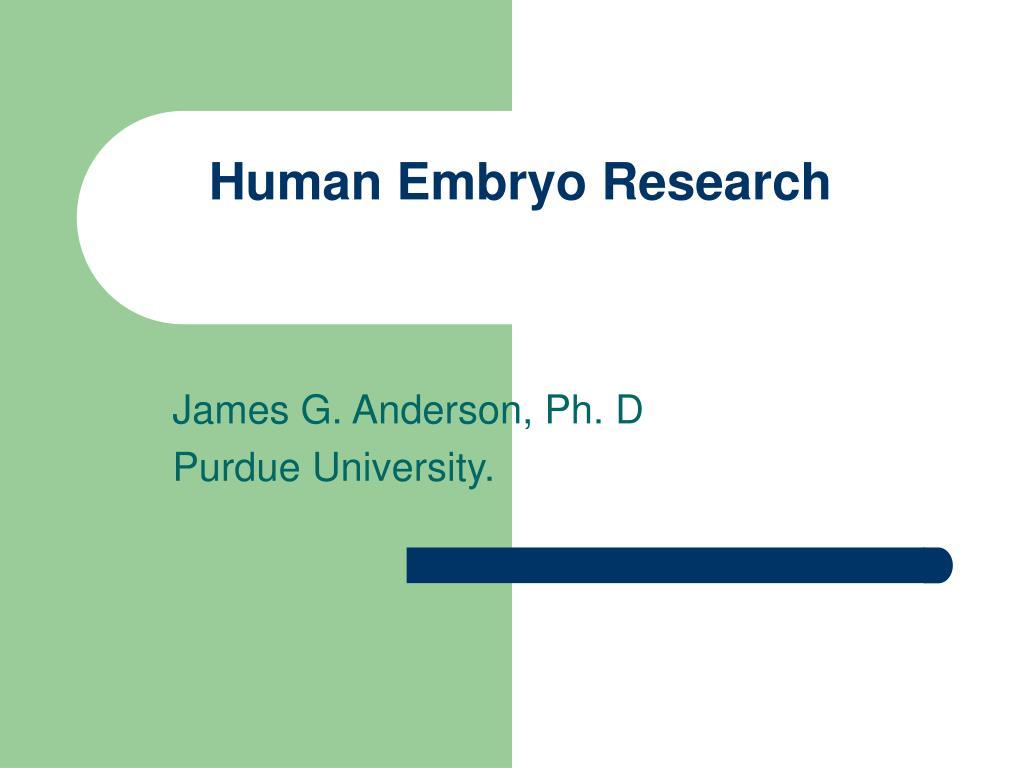 Human Embryo Research
