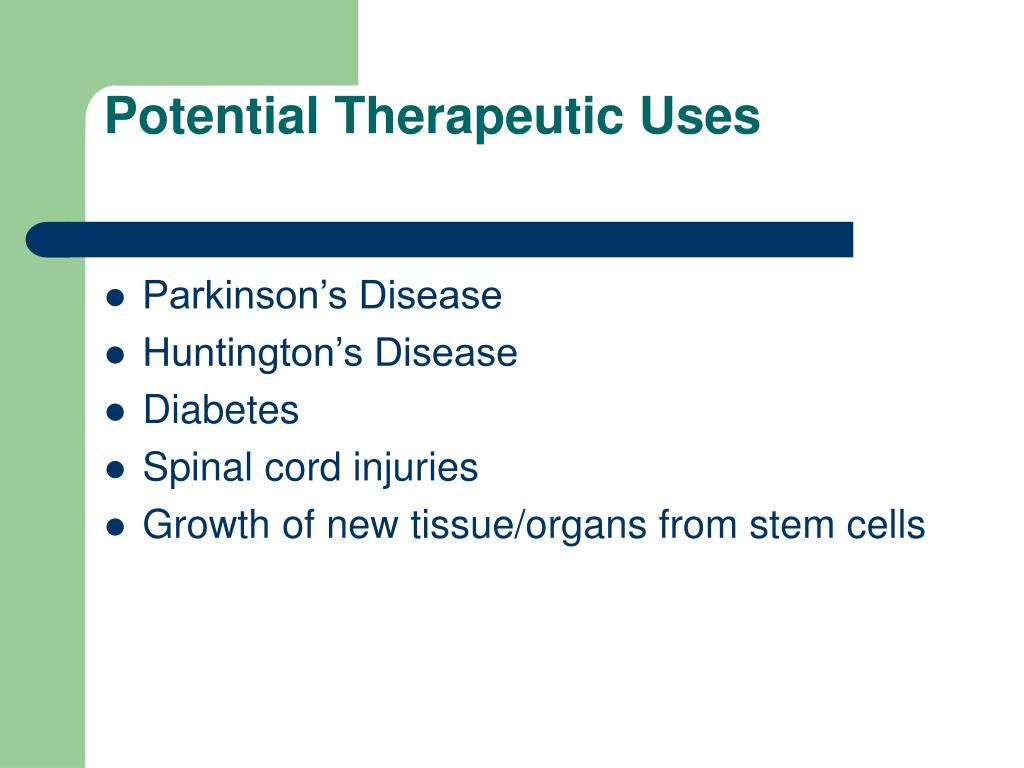 Potential Therapeutic Uses