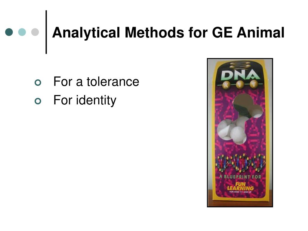 Analytical Methods for GE Animal