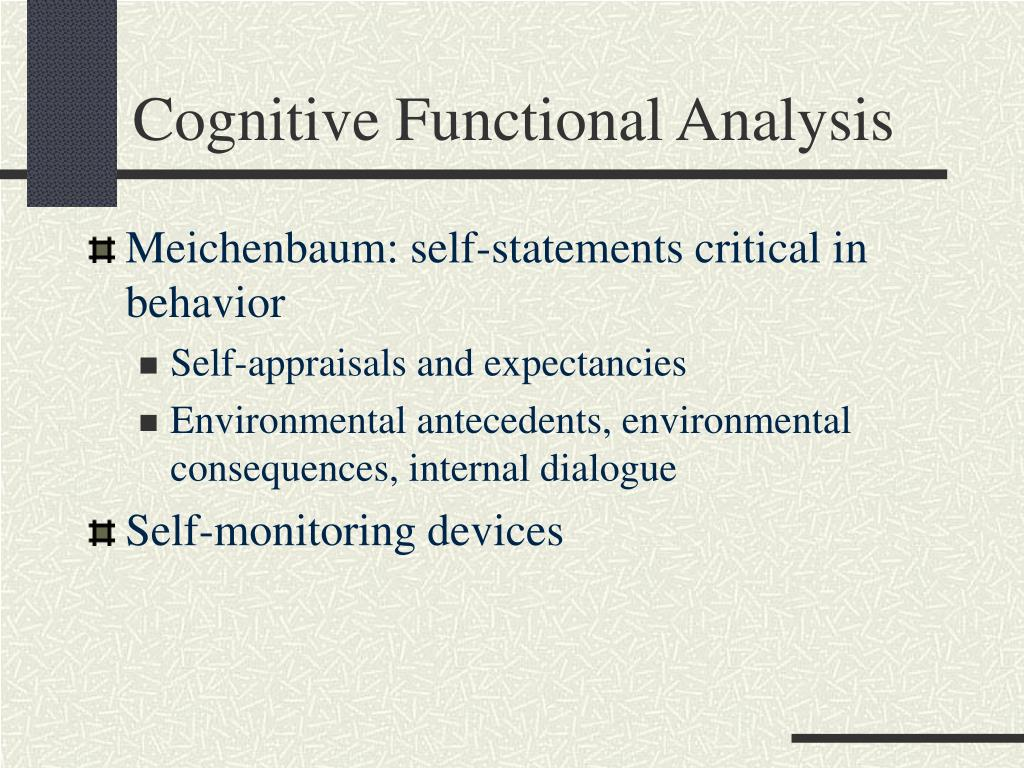 Cognitive Functional Analysis