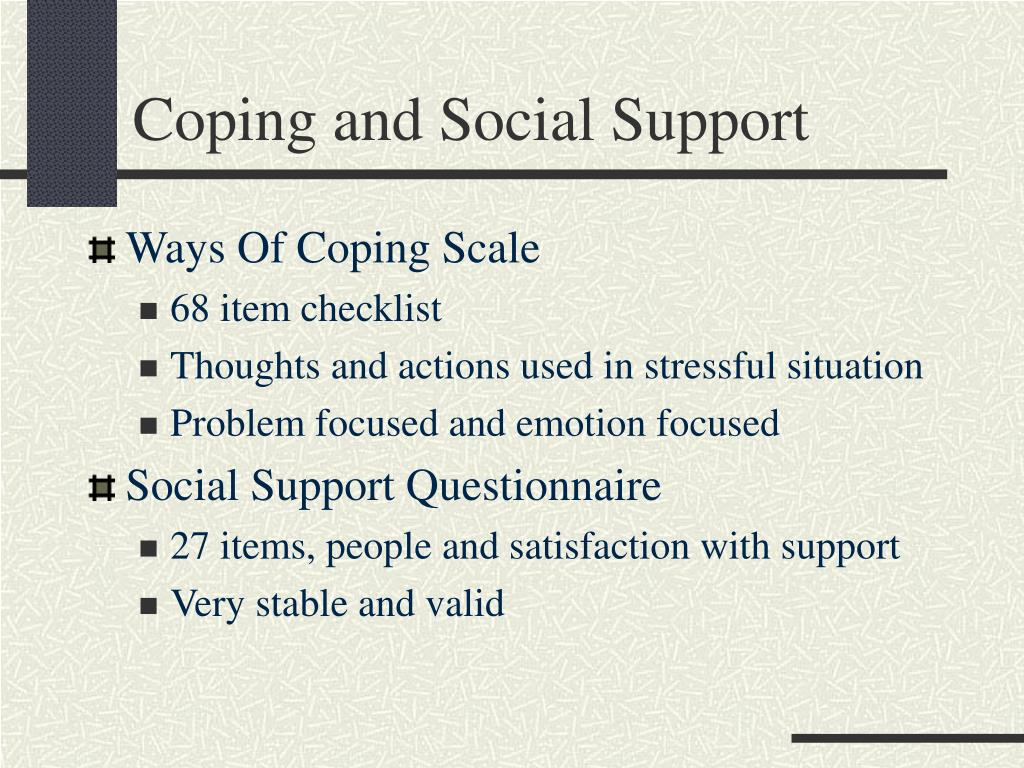 Coping and Social Support