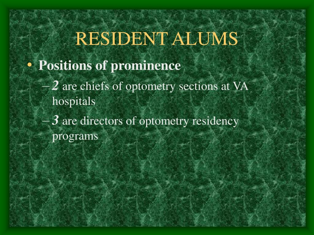RESIDENT ALUMS