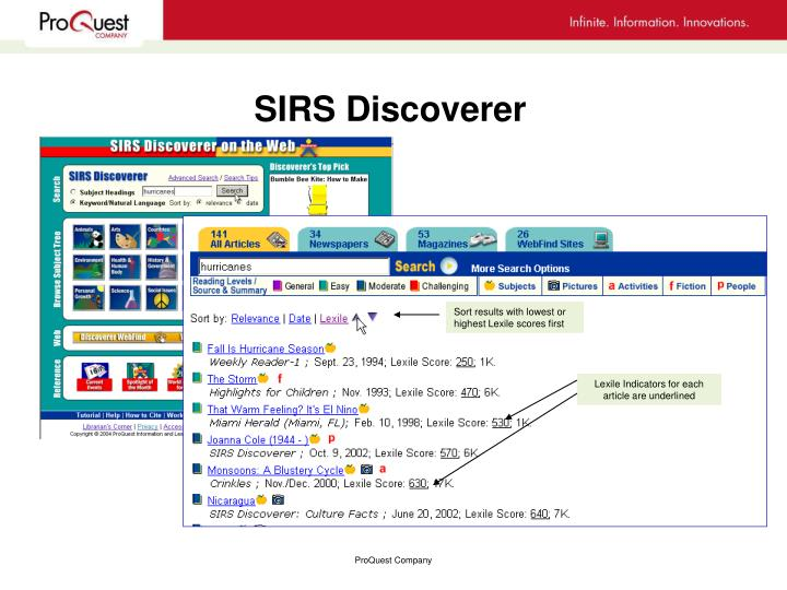 Sirs discoverer3