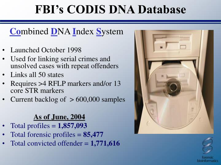 FBI's CODIS DNA Database