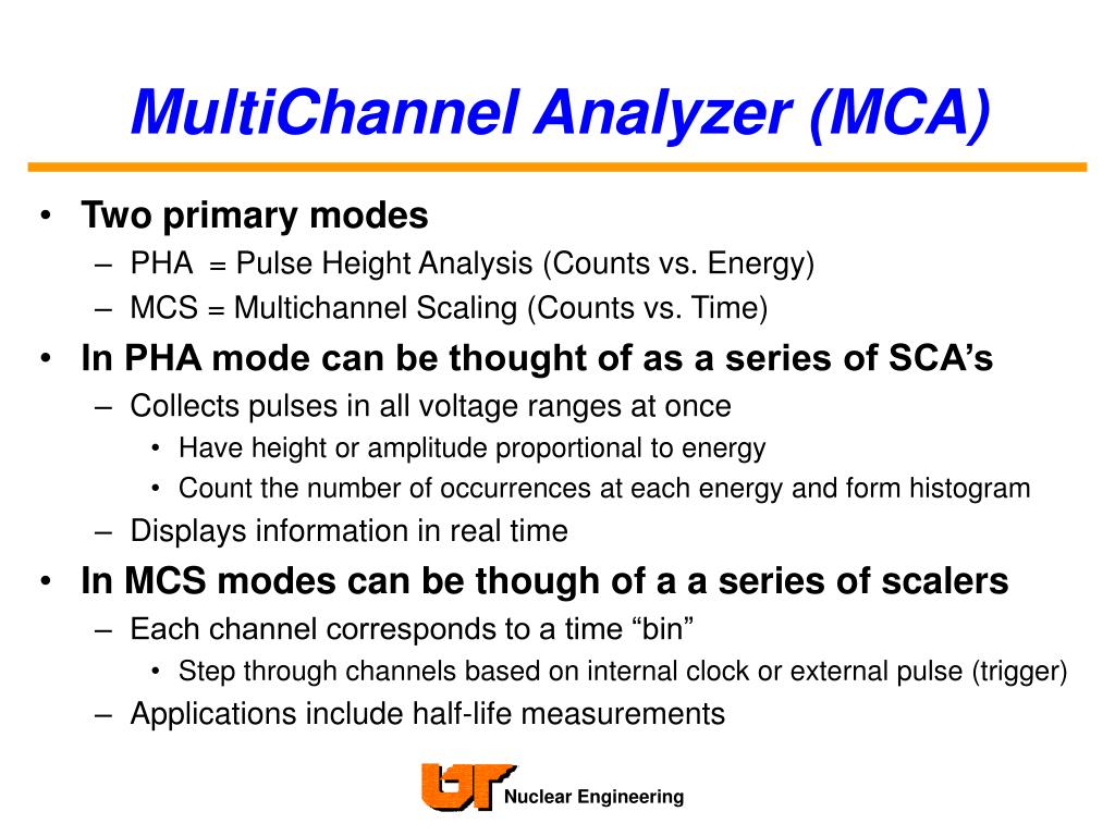 MultiChannel Analyzer (MCA)