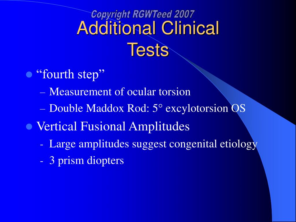 Additional Clinical