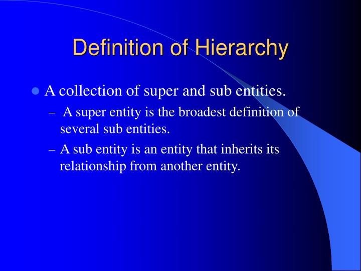 Definition of hierarchy