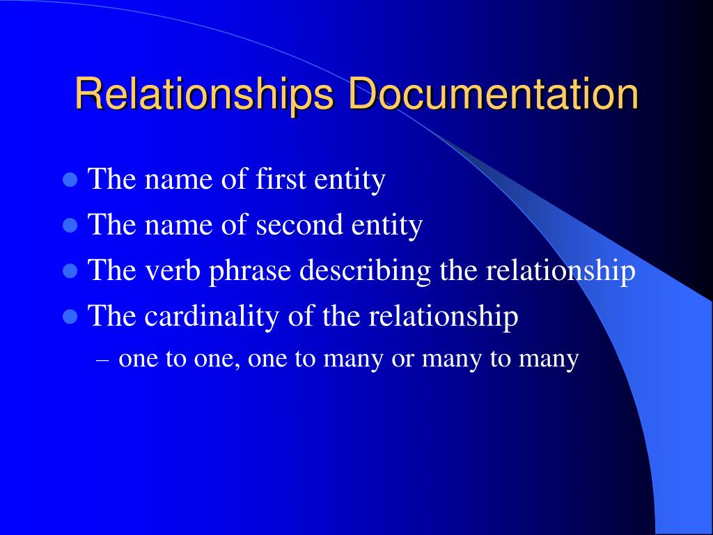 Relationships Documentation