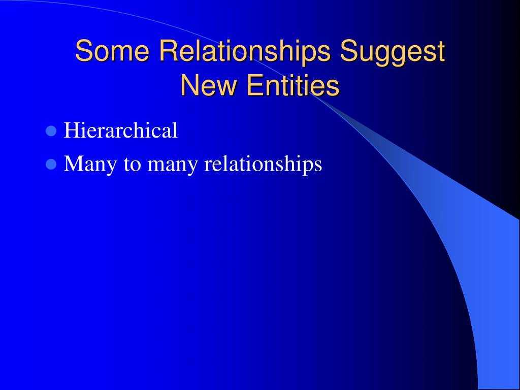 Some Relationships Suggest New Entities