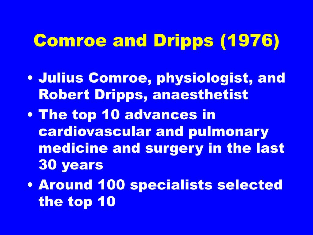 Comroe and Dripps (1976)