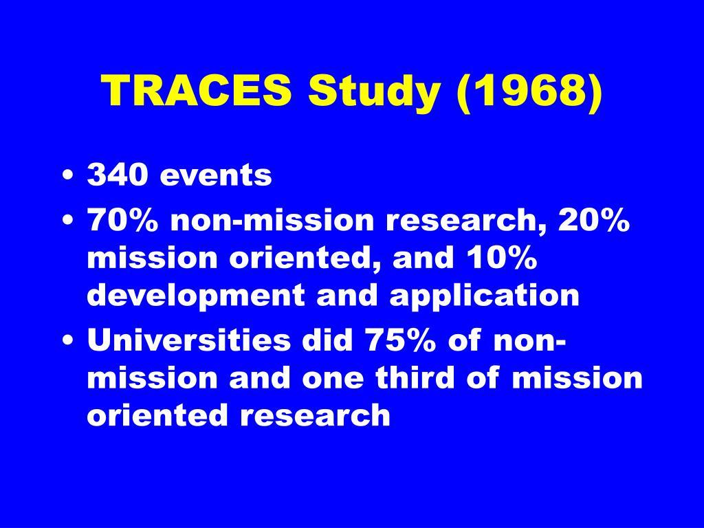TRACES Study (1968)