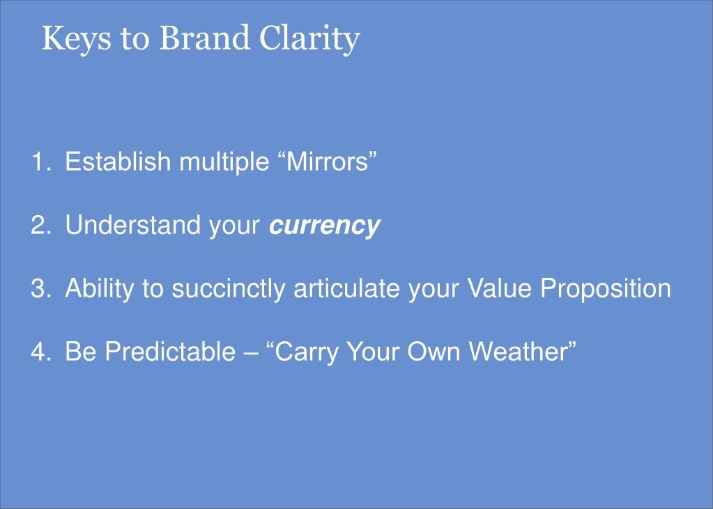 Keys to Brand Clarity