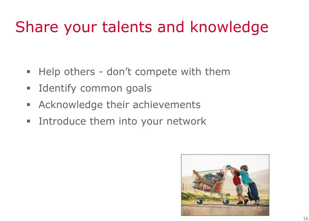Share your talents and knowledge
