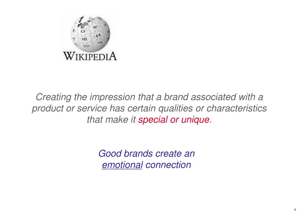 Creating the impression that a brand associated with a product or service has certain qualities or characteristics that make it