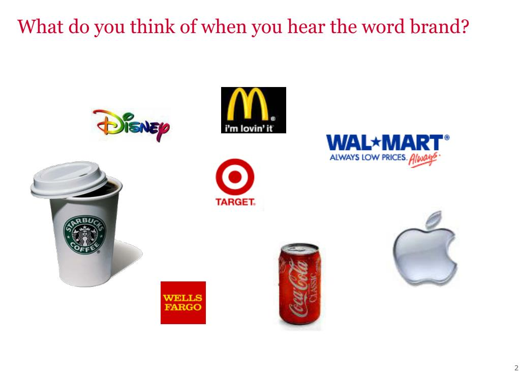 What do you think of when you hear the word brand?