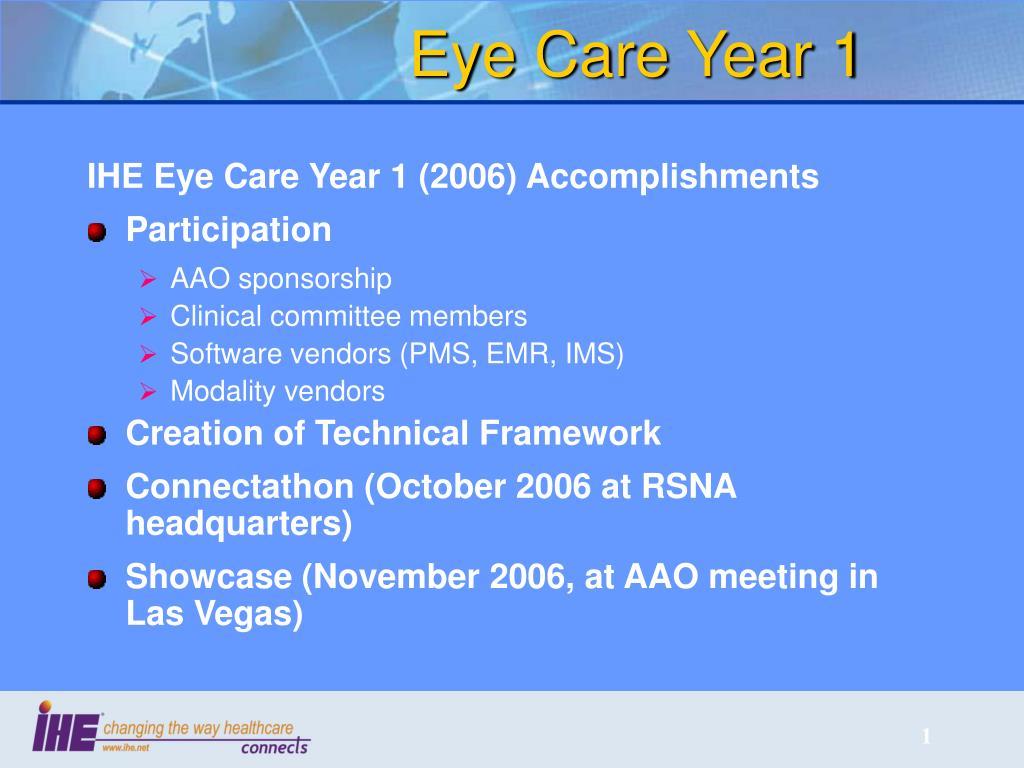 Eye Care Year 1