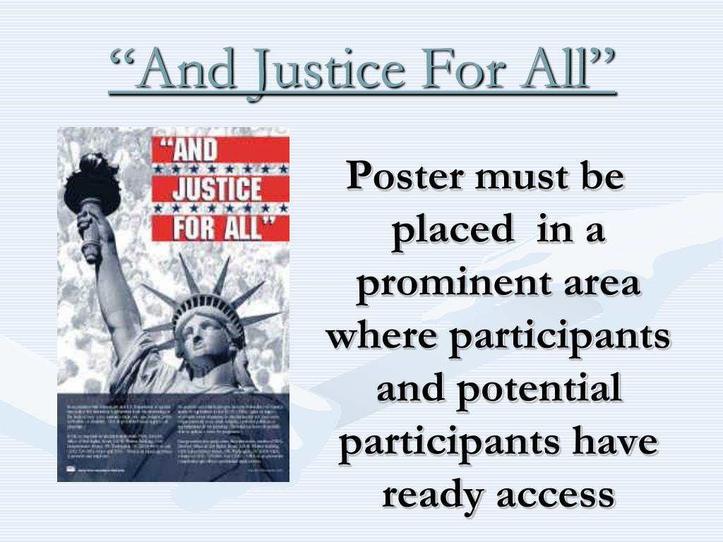 """""""And Justice For All"""""""