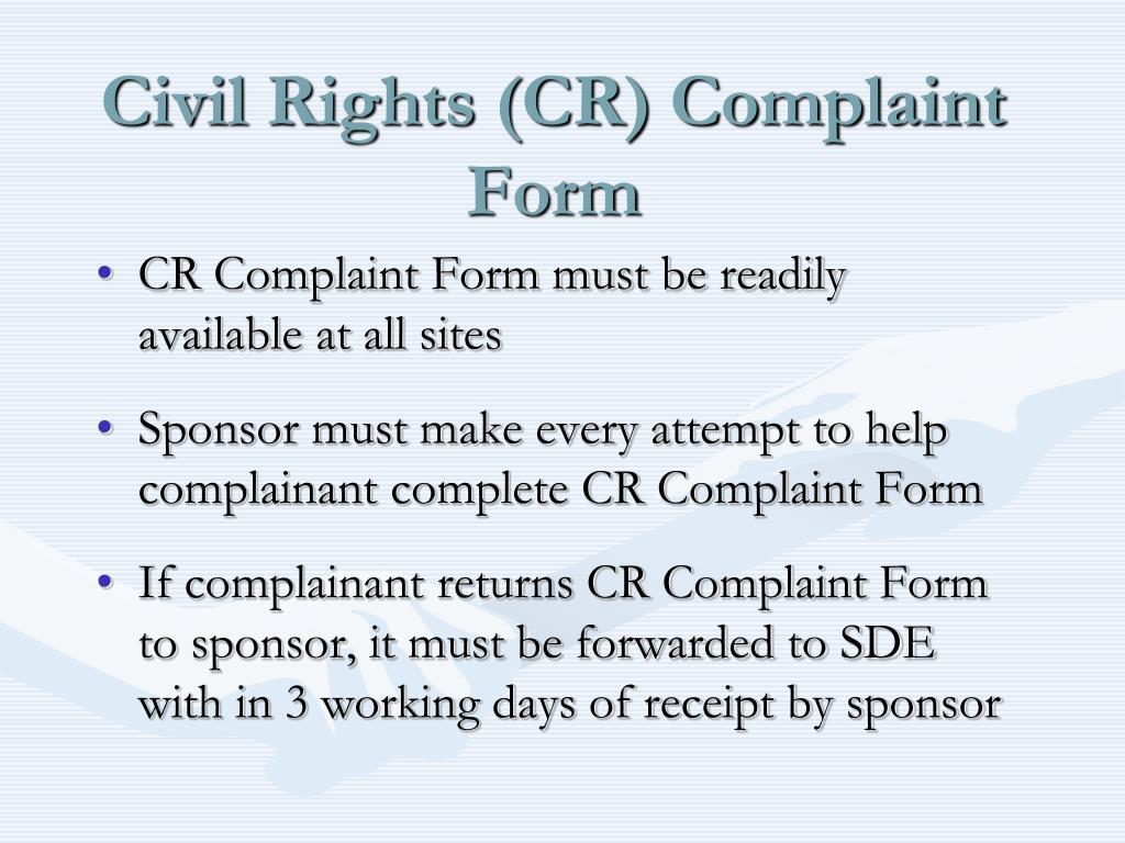 Civil Rights (CR) Complaint Form