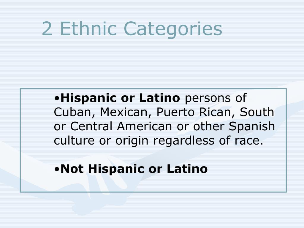 2 Ethnic Categories
