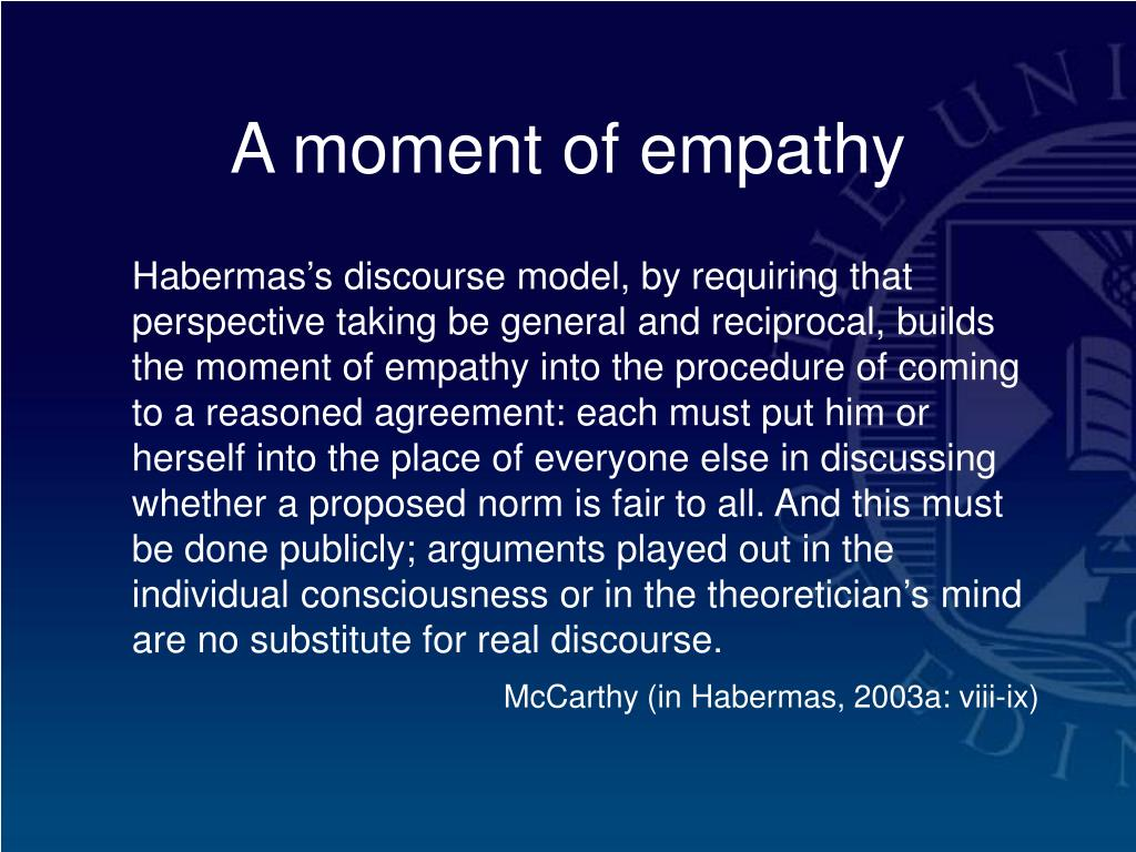 A moment of empathy