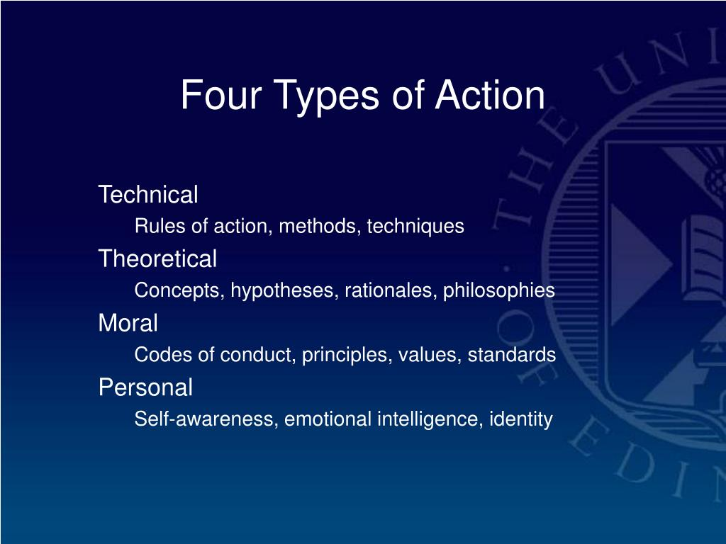 Four Types of Action