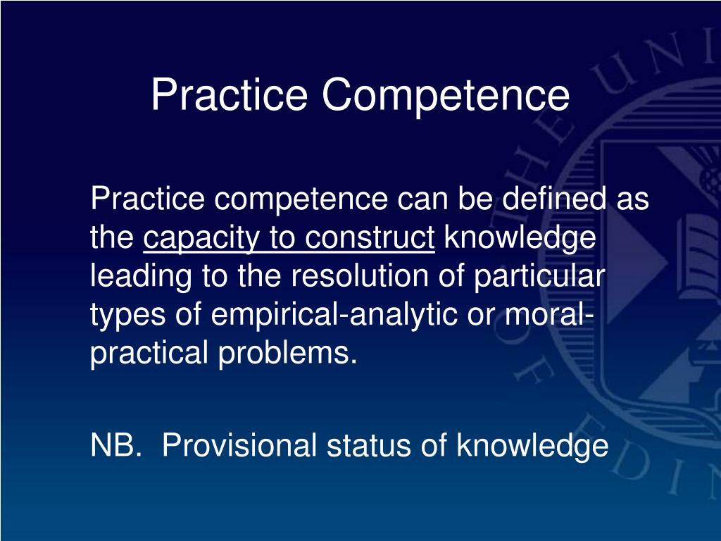 Practice Competence