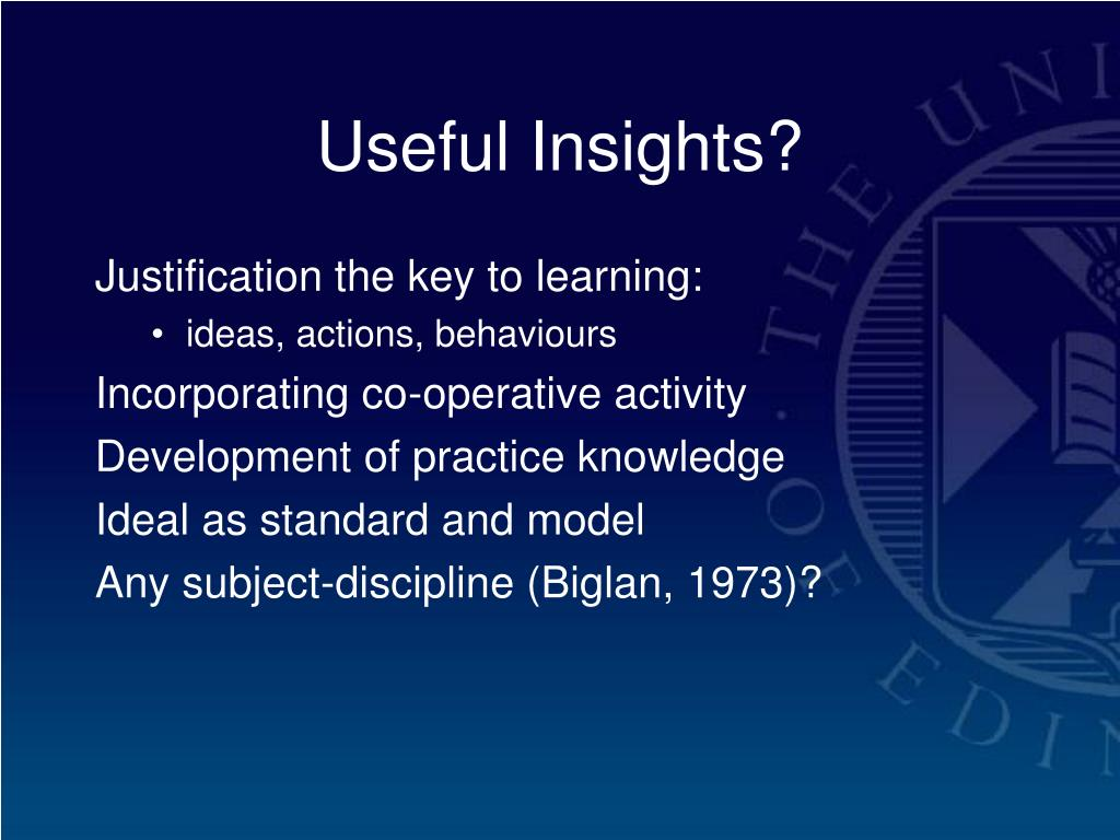Useful Insights?