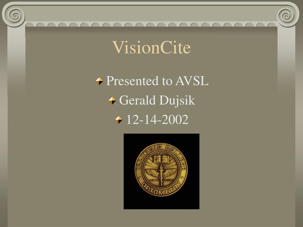 visioncite