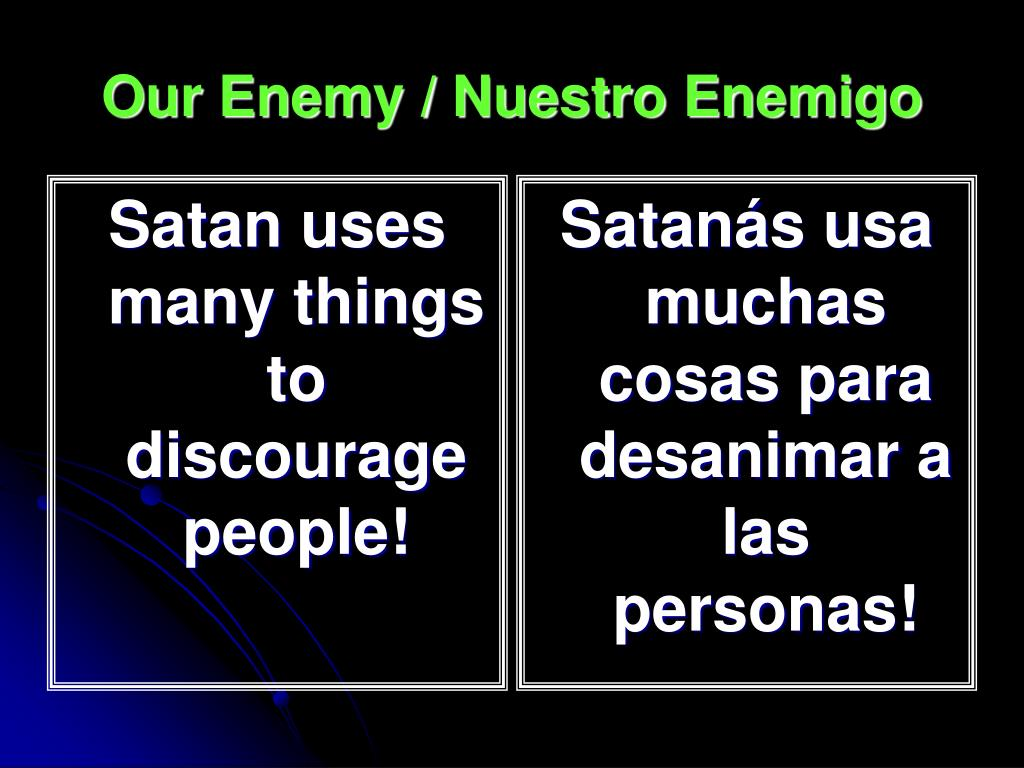 Satan uses many things to discourage people!