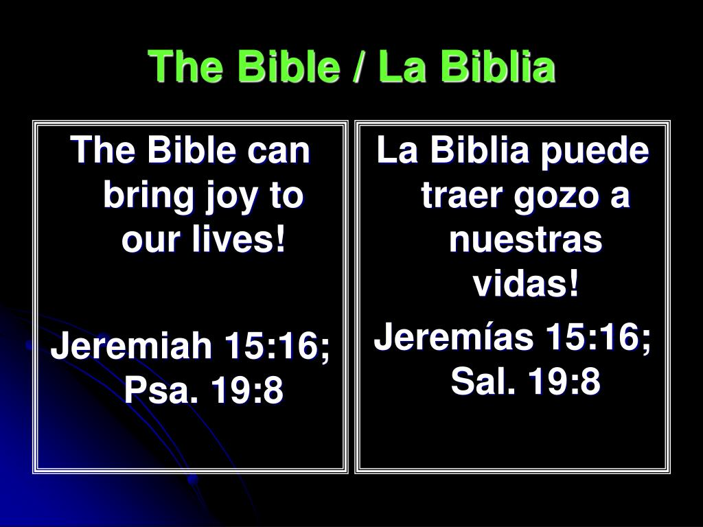 The Bible can bring joy to our lives!
