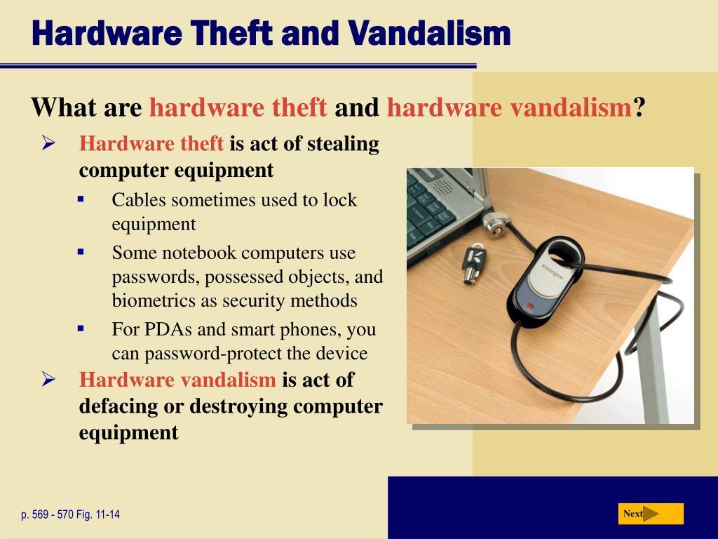 Hardware Theft and Vandalism
