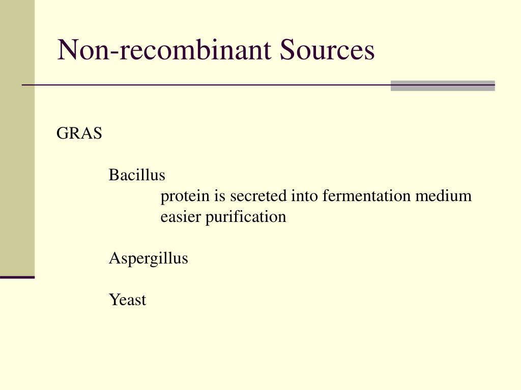 Non-recombinant Sources