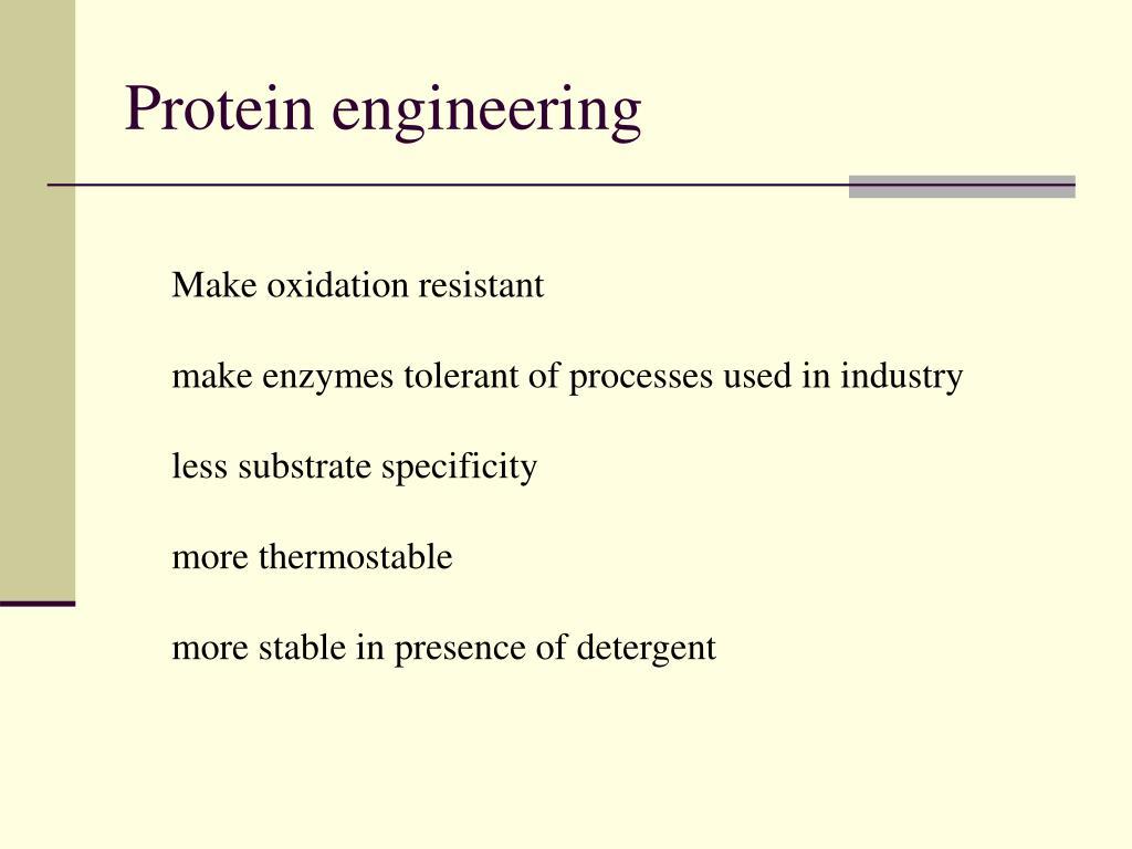 Protein engineering