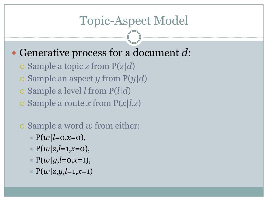Topic-Aspect Model
