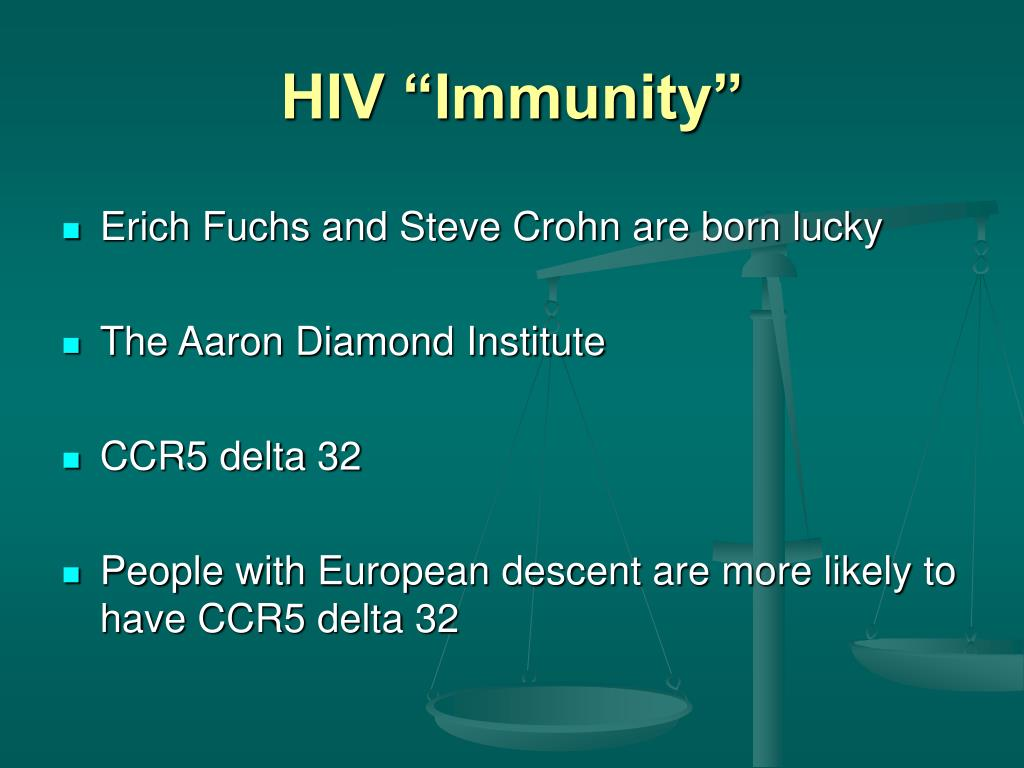 "HIV ""Immunity"""