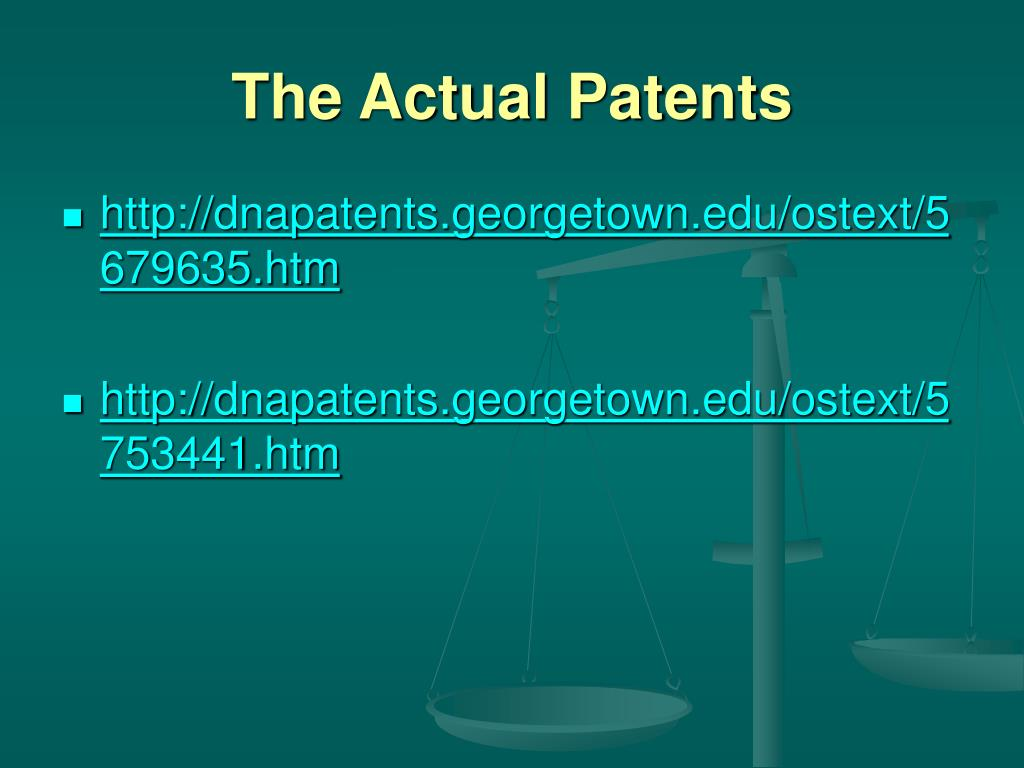 The Actual Patents