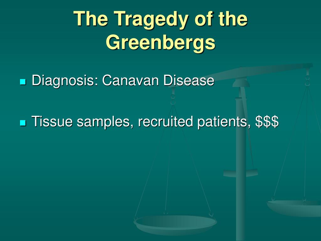 The Tragedy of the Greenbergs