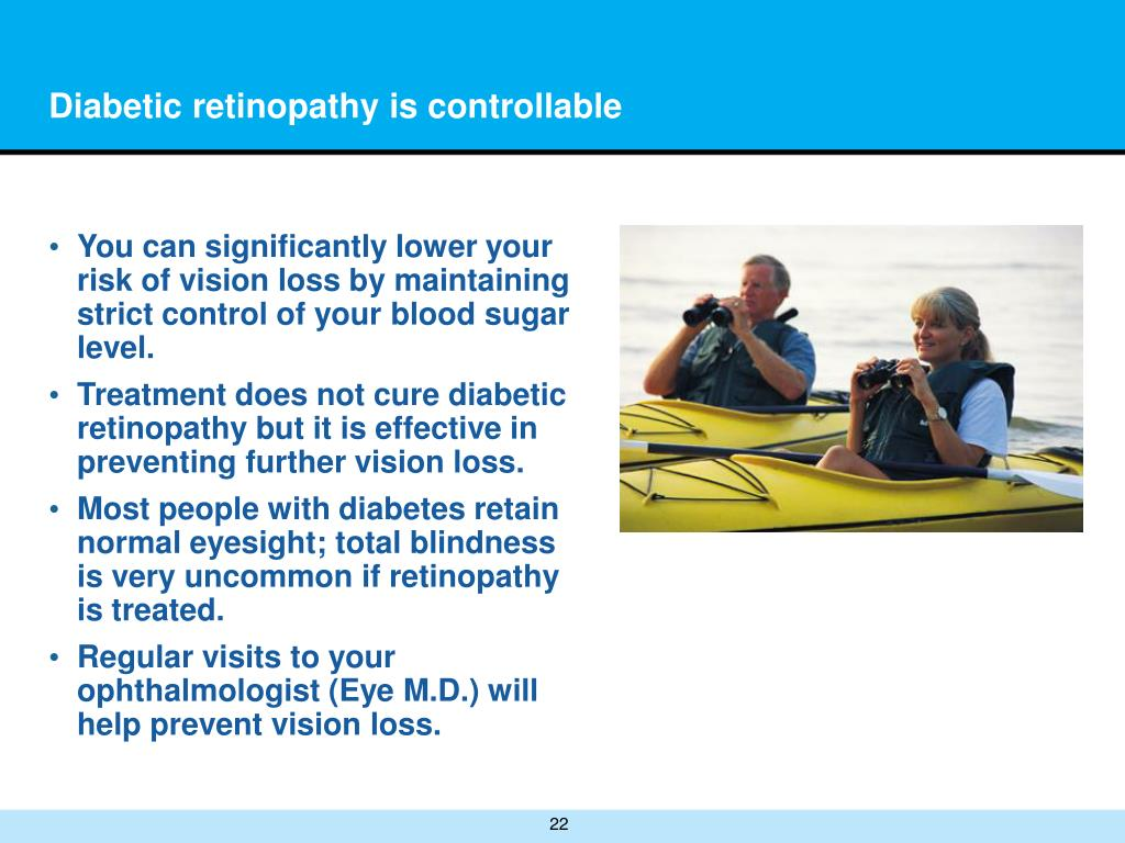 Diabetic retinopathy is controllable