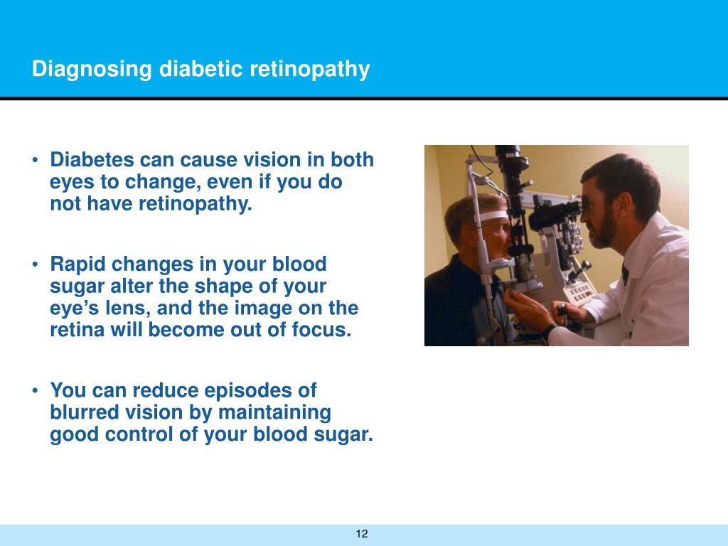 Diagnosing diabetic retinopathy