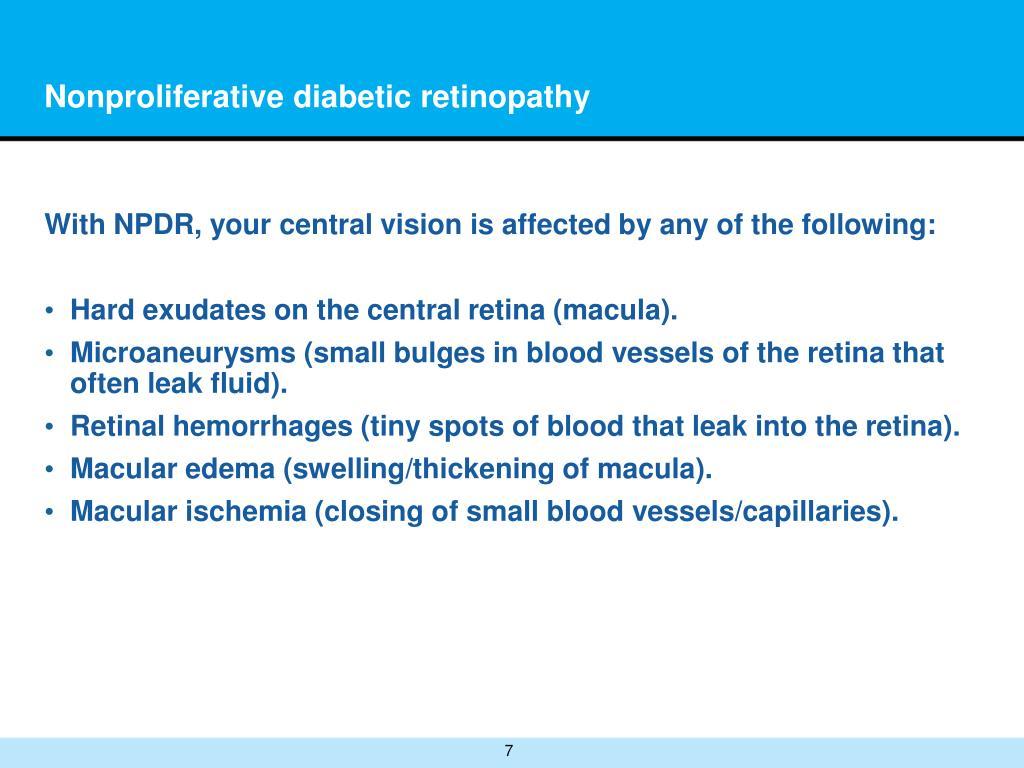 Nonproliferative diabetic retinopathy