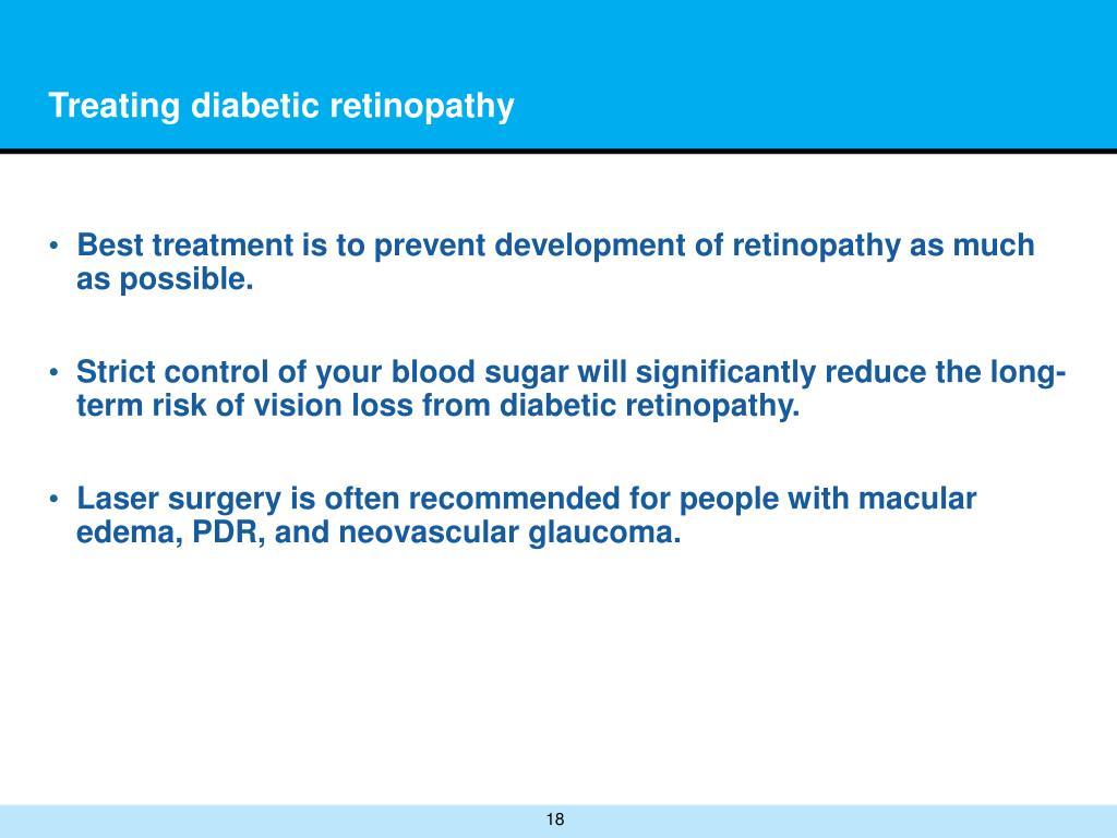 Treating diabetic retinopathy