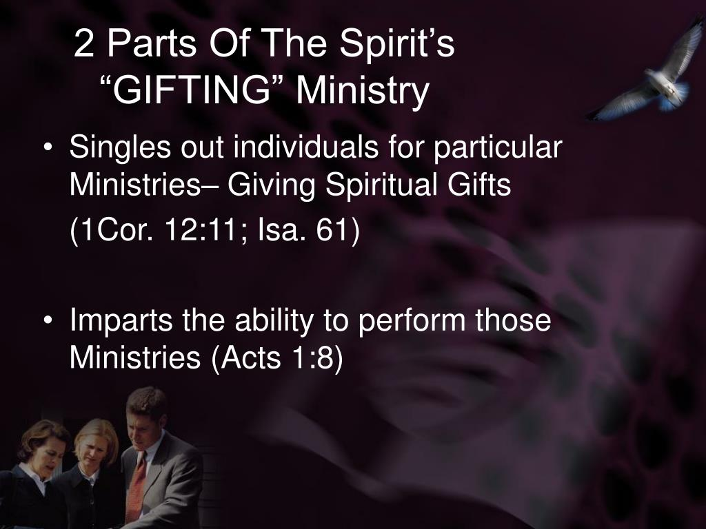 "2 Parts Of The Spirit's ""GIFTING"" Ministry"