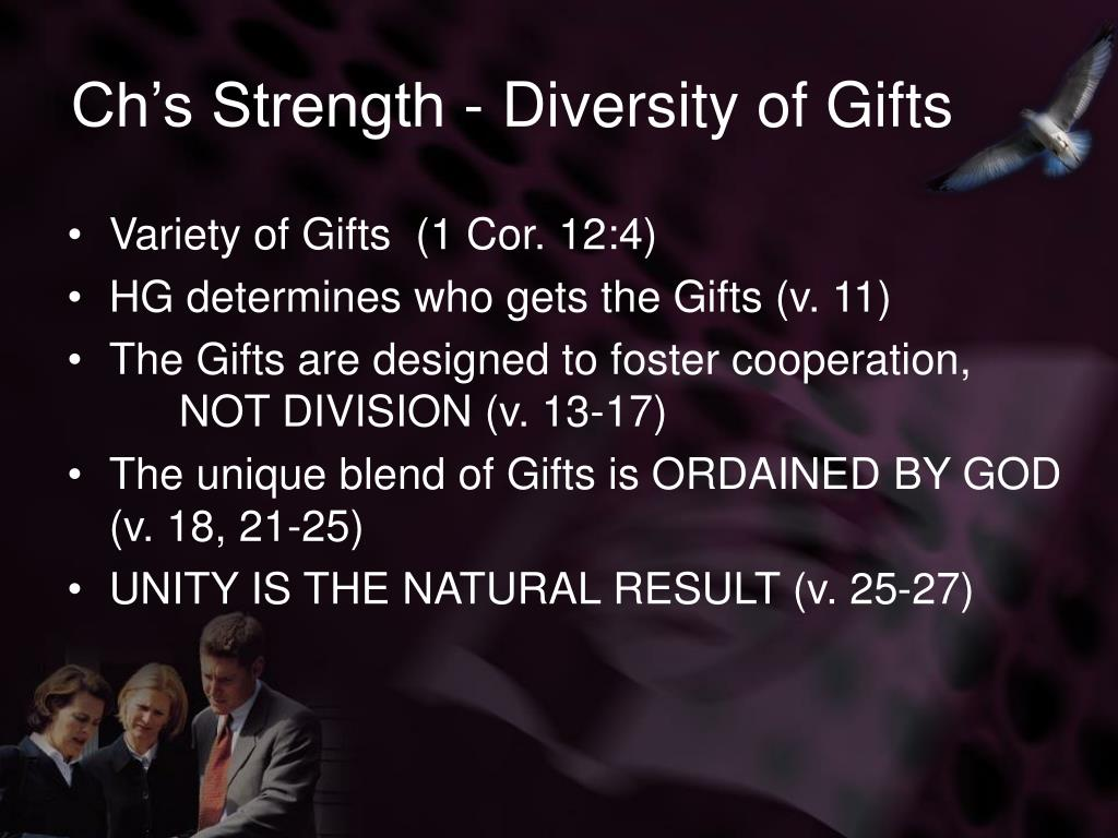 Variety of Gifts  (1 Cor. 12:4)