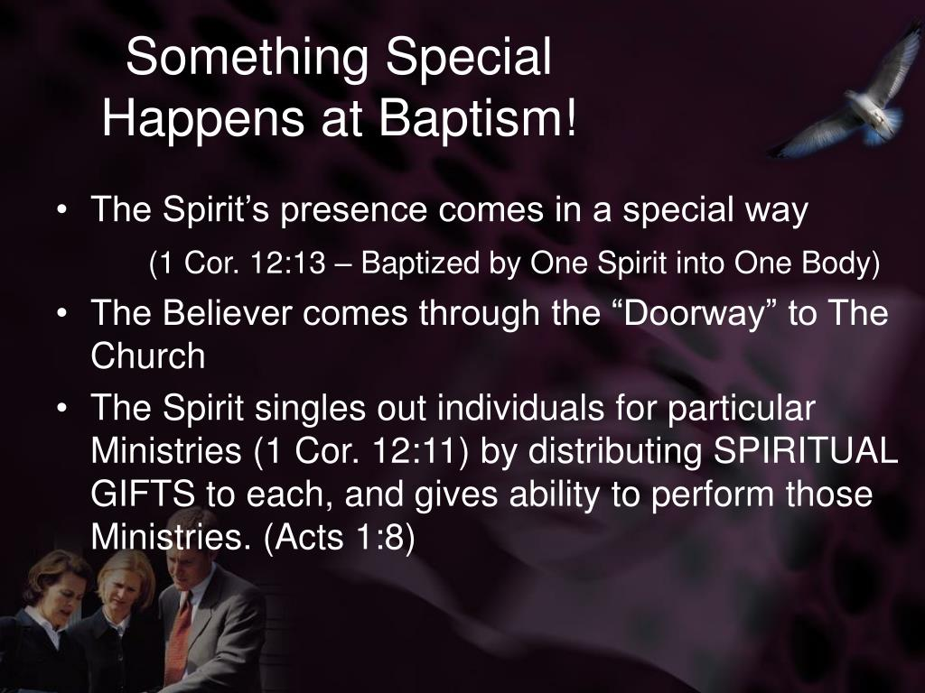 Something Special Happens at Baptism!