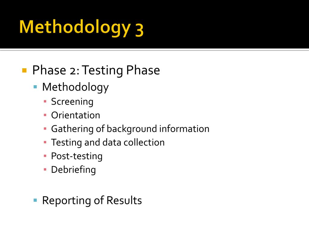 Methodology 3