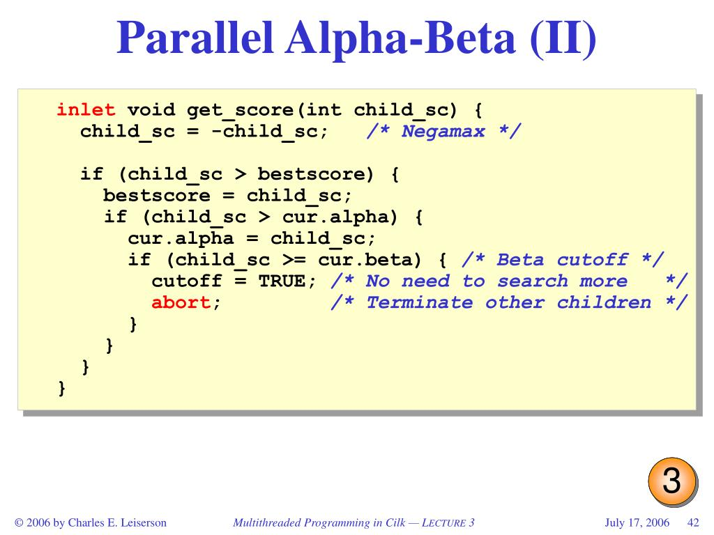 Parallel Alpha-Beta (II)