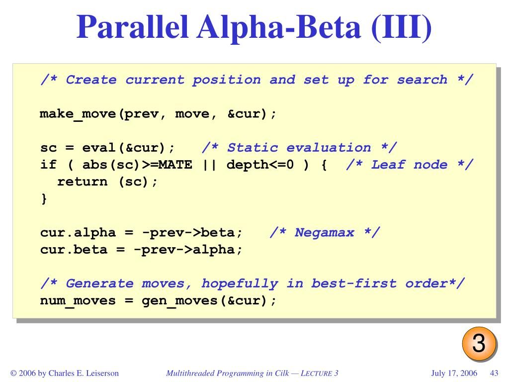 Parallel Alpha-Beta (III)