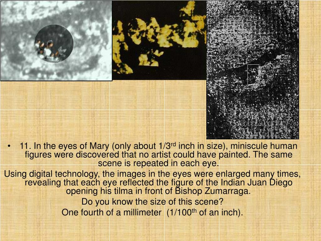 11. In the eyes of Mary (only about 1/3