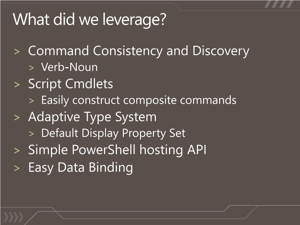 What did we leverage?