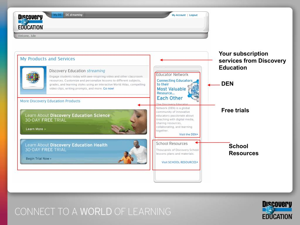 Your subscription services from Discovery Education